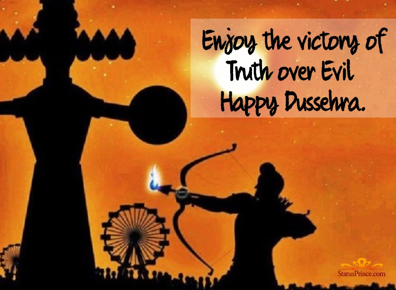 dussehra wishes poster