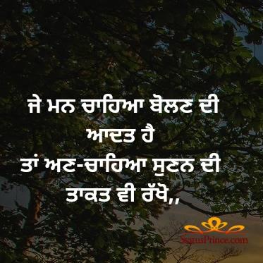 punjabi life quotes status