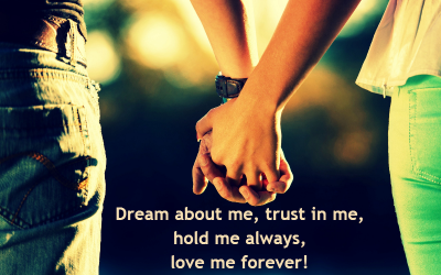 Romantic status wallpaper