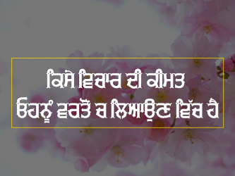 elder thoughts punjabi