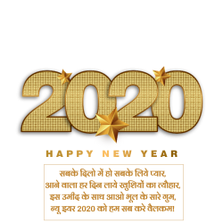 wish you a happy new year hindi