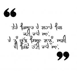 punjabi shayari about life